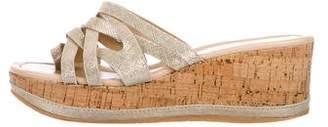 Donald J Pliner Metallic Slide Sandals