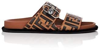 Fendi Women's Double-Strap Leather Sandals