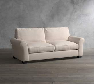 Pottery Barn PB Comfort Roll Arm Upholstered Deluxe Sleeper Sofa With Memory Foam Mattress