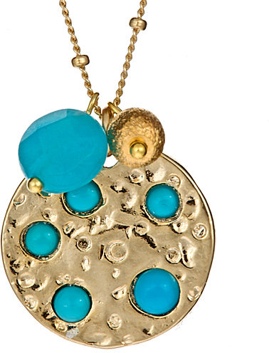 Janna Conner Designs Turquoise Cabochon Pendant Necklace