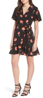 Lush Lucy Floral Wrap Dress