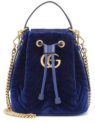 Gucci GG Marmont velvet bucket bag