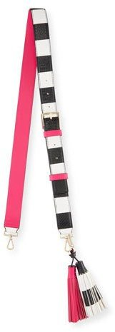 Kate SpadeKate Spade New York Mix It Up Striped Strap & Tassel Pack, Pink Confetti/Multi