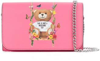 Moschino Teddy garland swing chain wallet
