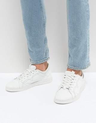 Diesel Stud Sole Leather Sneakers White