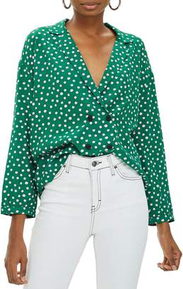 Topshop Taylor Button Down Blouse