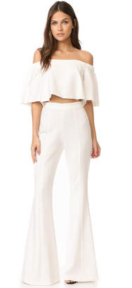 Black Halo Hadid Two Piece Jumpsuit $390 thestylecure.com