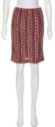 Missoni Metallic Knit Skirt