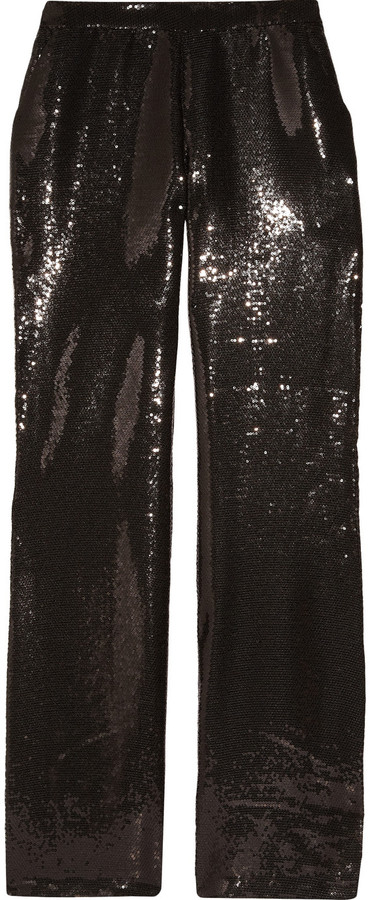Halston Heritage Sequined crepe pants