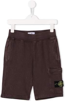 7e35daa05f1 Stone Island Junior TEEN military shorts