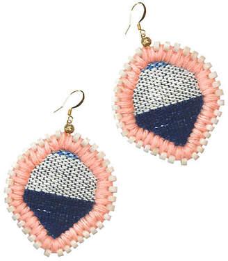Gaia Lolo Stitch Earrings - Indigo/Peach