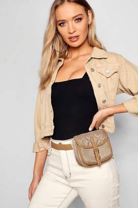 boohoo Quilt Pocket Belt Bag