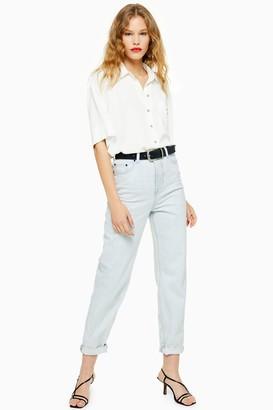 Topshop Womens Bleach Wash Balloon Jeans - Bleach Denim