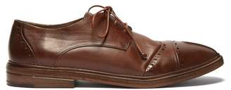 Marsèll Sdendone Leather Derby Shoes - Mens - Brown