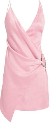 Intermix Cushnie Wrap-Effect Pink Mini Dress