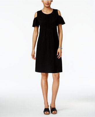 Style & Co Pleated Cold-Shoulder Dress, Only at Macy's $49.50 thestylecure.com