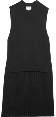 DKNY - Ribbed Cotton-blend Tunic - Black $300 thestylecure.com