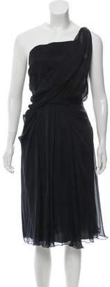 Philosophy di Alberta Ferretti Draped Knee-Length Dress