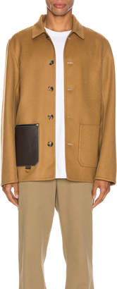 Loewe Button Jacket Patch Pockets in Camel   FWRD