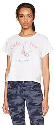 Sundry Women's Cropped Tee Cote D Azur