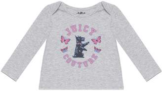 Juicy Couture Scottie Butterfly Long Sleeve Tee for Baby
