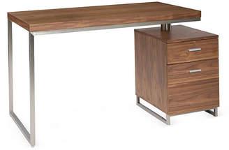 One Kings Lane Alden Desk - Walnut/Silver