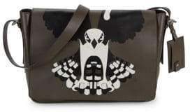 Valentino Graphic Leather Messenger Bag