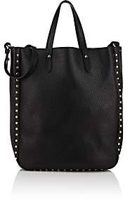 Barneys New York Women's Studded Leather Tote Bag - Black