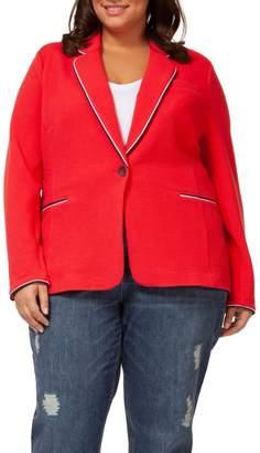 Dex Red Knit Blazer