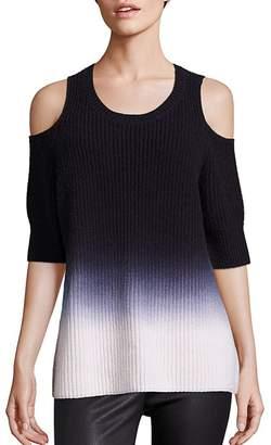 Zoe Jordan Dias Ombre Cold-Shoulder Sweater