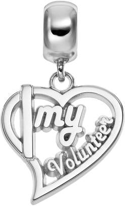 "Insignia Collection Sterling Silver ""Volunteer"" Heart Charm"