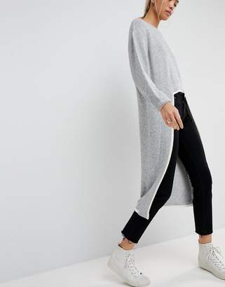 Asos Extreme Dipped Hem Knitted Sweater