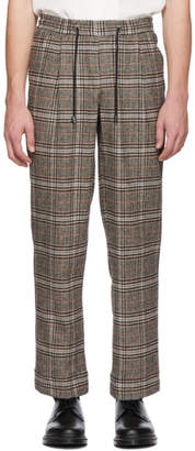 LHomme Rouge Brown Check Floater Trousers