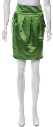 Armani Collezioni Satin Knee-Length Skirt