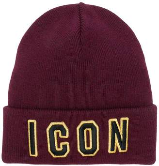 DSQUARED2 ICON logo beanie hat