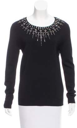 Herve Leger Embellished Knit Sweater w/ Tags