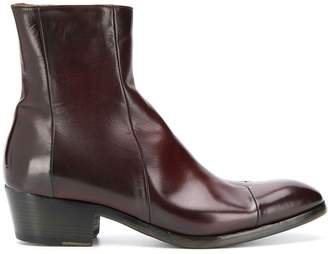 Silvano Sassetti leather ankle boots