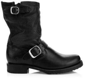 Frye Leather Buckle Boots