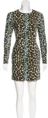 House of Holland Mini Leopard Print Dress