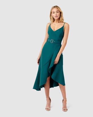 Forever New Isabella Belted Ruffle Hem Dress