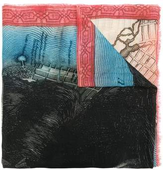 Faliero Sarti Williamsburg printed scarf
