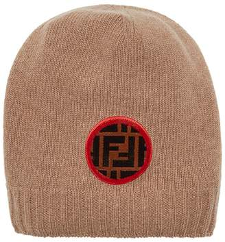 Fendi FF logo patch beanie