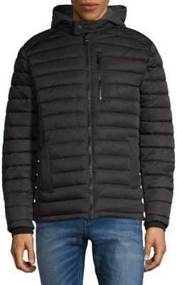 Buffalo David Bitton Detachable Fleece Puffer Hooded Jacket