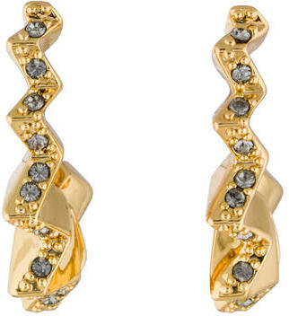 Giles & Brother Crystal Ray Zig Zag Hoop Earrings $45 thestylecure.com
