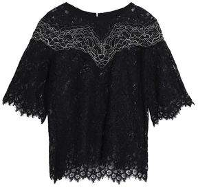 Sandro Laslo Corded Lace Top
