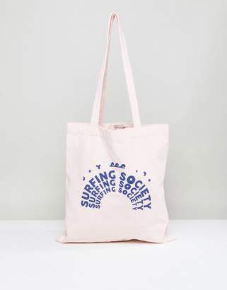 Maison Scotch Masion Scotch Surfing Society Tote Bag