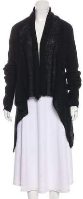 Co Cashmere-Blend Rib Knit Cardigan