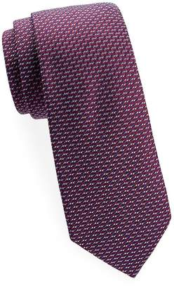 Saks Fifth Avenue Made in Italy Men's Two-Tone Diagonal Woven Silk Tie
