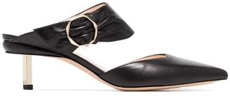 Nicholas Kirkwood black Polly 55 leather mules