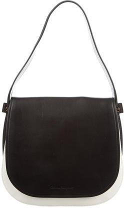 Salvatore FerragamoSalvatore Ferragamo Coloblock Leather Shoulder Bag